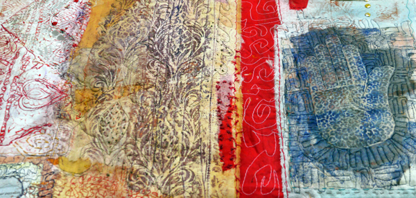Cas Holmes From The Land - textile piece