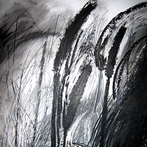 Alison Mountain painting Black and White