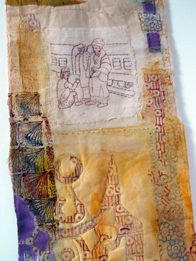 Cas Holmes From The Land - textile piece 2