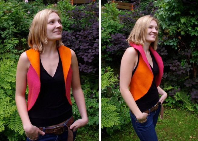 Exploring the Circle - felted waistcoat