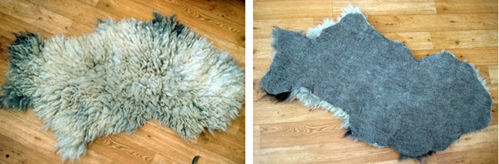Felted fleece front and back