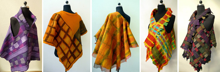 Examples of Highlands style clothing from the Tartan Felt Masterclass